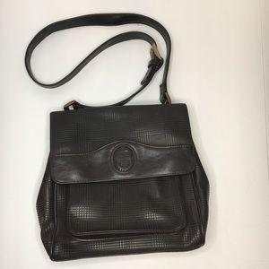 VNTG Liz Claiborne Brown Houndstooth Vegan Handbag